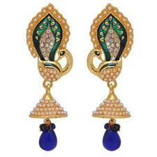 fancy jhumka earrings youbella traditional gold plated jewellery pearl jhumka jhumki