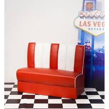 Polsterbank Esszimmer Bank Polster Sitzbank Vegas American Diner Rot Weiß Wendland Moebel De
