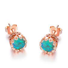 pretty earrings pretty sweet 18kt gold stud earrings women s opal