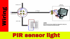 how to wire pir sensor light youtube
