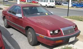 Dodge Spirit Plymouth Acclaim Chrysler Chrysler Lebaron