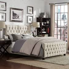 knightsbridge tufted nailhead chesterfield bed with footboard by