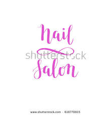 pink square nail on finger beauty stock vector 513623134