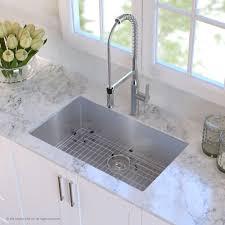 scratch resistant stainless steel sink kraus khu10030 30 inch undermount single bowl kitchen sink with 16