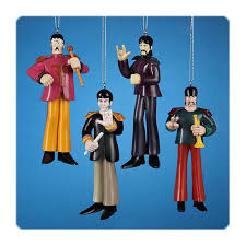 the beatles yellow submarine sgt pepper ornament 4 pack kurt s