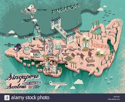 Map Of Singapore Vector 3d Map Illustration Of Singapore Stock Vector Art