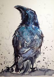 artfinder crow by kovács anna brigitta original watercolour