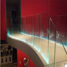 led glass railing at rs 490 square feet glass staircase railing