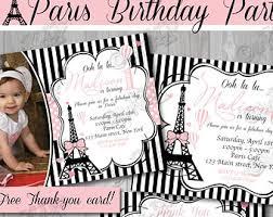 paris birthday invitation paris birthday invite printable