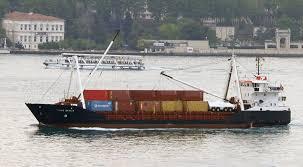 danish cargo ship hanne danica southbound on bosphorus heading