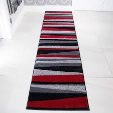 Black Runner Rug Red Black U0026 Grey Striped Hall Runner Rug Rio Kukoon
