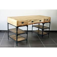 bureau metal et bois bureau industriel métal et bois de manguier
