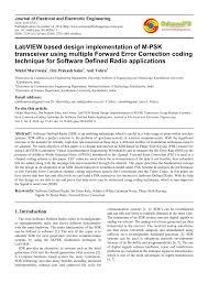 labview based design implementation of m psk transceiver using