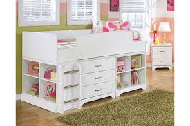 lulu twin loft bed with storage and bookcase ashley furniture