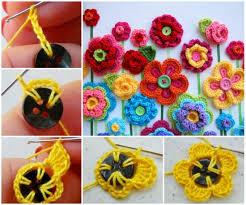 button flowers crochet button flowers free pattern lots of ideas