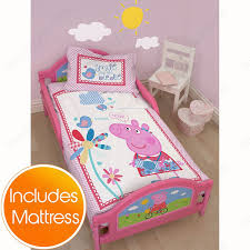 Peppa Pig Toddler Bed Set Peppa Pig Tulip Junior Toddler Bed Plus Foam Mattress Co
