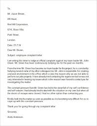 doc 580751 sample employee complaint letter u2013 complaint letter