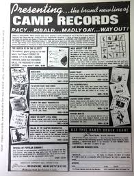 White Bedroom Records Ads For Camp Records
