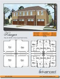 8 Plex Apartment Plans 2 Story Multi Family Mediterranean House Plan Krueger