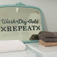 Retro Laundry Room Decor by Diy Project Idea Upcycled Vintage Mirror Paper Riot