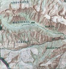 National Geographic Map Hiking Map Of Yellowstone National Park Canyon Area Tower