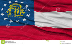 Georgia Flag State Closeup Georgia Flag Usa State Stock Illustration Illustration