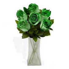 green roses forest green spectacular bouquet 6 roses forest green roses