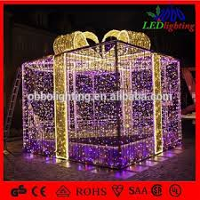 christmas present light boxes outdoor christmas ornament led decoration light motif gift