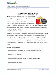 reading comprehension grade free printable third grade reading comprehension worksheets k5
