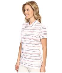 Womens Puma Golf Clothes Puma Road Map Stripe Polo In Red Lyst