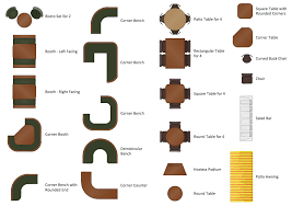 design elements and restaurant solution sample floor plans