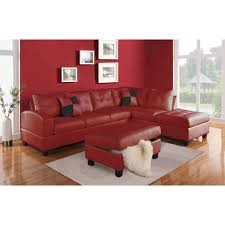 kiva sectional sofa with 2 pillows in bonded leather match