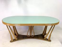 vintage italian dining table with glass top 1940s for sale at pamono