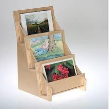 birch plywood 3 tier card rack countertop display 4323