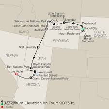 Map Of The Las Vegas Strip Hotels 2015 by Us National Park Guided Tour Packages Globus