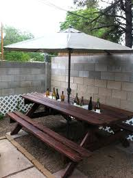 step 2 folding picnic table umbrella picnic table step 2 umbrella picnic table styledbyjames co