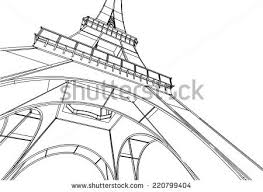 abstract art of eiffel tower download free vector art stock