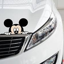 volkswagen bmw aliauto funny car sticker cute mickey mouse peeping cover