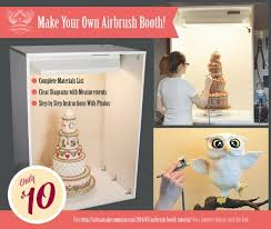 make your own photo booth airbrush booth tutorial artisan cake company