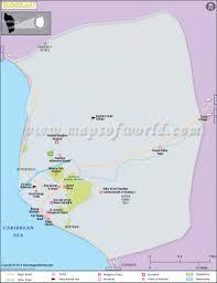 St Joseph River Map Roseau Map Map Of Roseau City Dominica