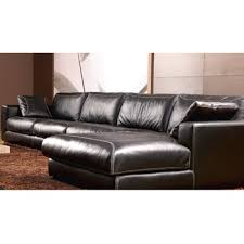 Latest Corner Sofa Design In Black Leather Sofa Set With Footrest - Corner sofa design