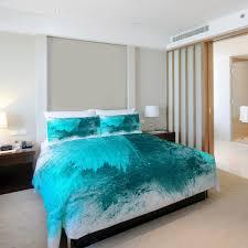 beautiful mess duvet cover white turquoise fleece full