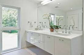 Bathroom Frameless Mirrors Frameless Mirror Bathroom Modern With Double Vanity Floating