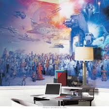 star wars cast giant adhesive wallpaper mural movie wall decor adhesive wallpaper mural d zoom
