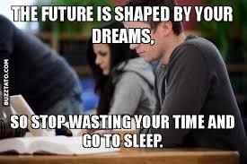 Future Meme - the future is shaped by your dreams dream meme shape sleep