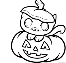 pumpkin kitten coloring pages coloring4free coloring4free com