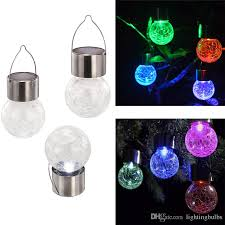 solar lights 2018 4pack crackle glass globe solar lights with hanger sogrand