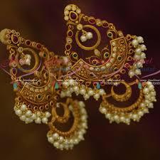 danglers earrings design er11964 pearl danglers big size fashion earrings party wear