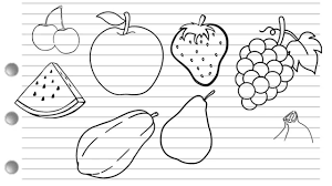 lychee fruit drawing how to draw fruits youtube