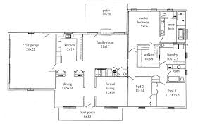 4 ranch house floor plans with garage country 1960s 19 planskill